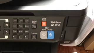 How to replace ink on a   epson WF 2750