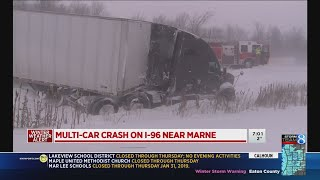 Winter weather slams West Michigan: Cold, snow and crashes