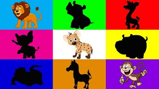 Śmieszne zoo - Afrykańskie zwierzęta dla dzieci