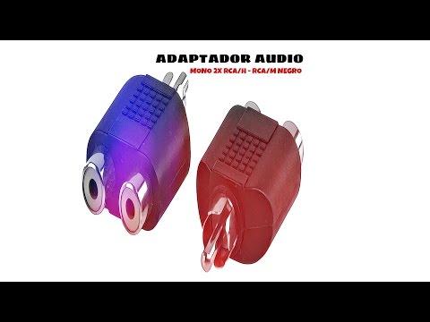 Video de Adaptador audio mono 2xRCA/H-RCA/M  Negro