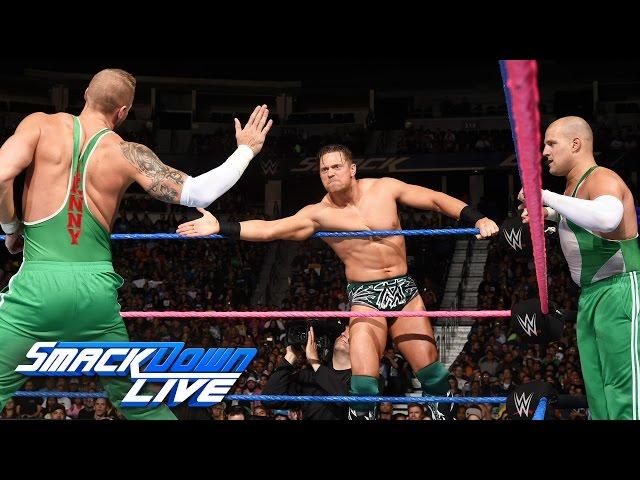 Dolph Ziggler, Heath Slater & Rhyno vs. The Miz & The Spirit Squad: SmackDown LIVE, Oct. 18, 2016