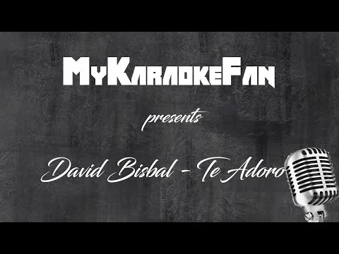 Adoro - David Bisbal (Sol menor/G minor) [Versión Karaoke / Instrumental]