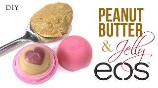 diy eos lip balm with peanut butter and jelly scent