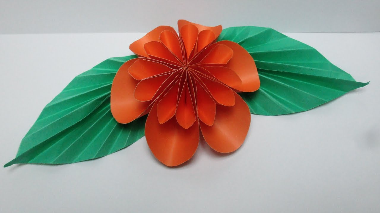 how to make easy paper flowers for children