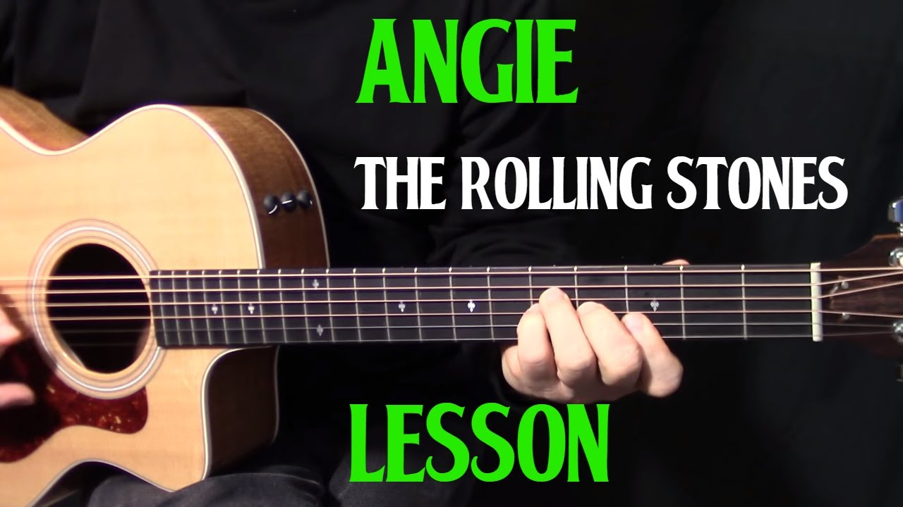 how to play Angie on guitar by the Rolling Stones - aco
