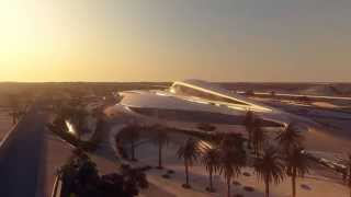 Animation of Zaha Hadid's Bee'ah Headquarters Building in UAE