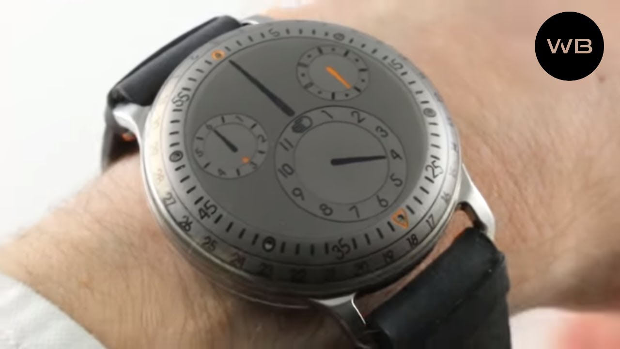 Ressence type 3 titanium oil filled type 3ti luxury watch review youtube for Ressence watches