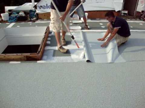 Roof Deck Ib Deck Shield Flat Roof Installation Youtube