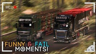 Euro Truck Simulator 2 Multiplayer | Funny Moments & Crash Compilation | #48