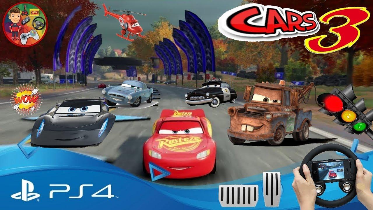 Cars 3 Simsek Mcqueen Araba Yaris Oyunu Jeu De Voiture Auto