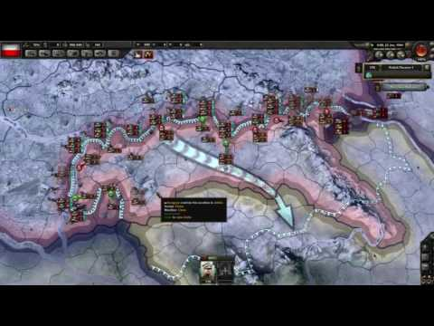 Hearts of Iron 4 Timelapse Non-Aligned Poland vs Germany and Soviet Union #1