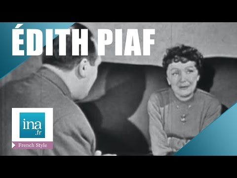 Interview with Edith Piaf in her home | INA Archive