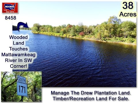 Maine Real Estate. Land For Sale In Drew Plantation, Penobscot County #8458