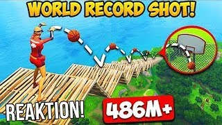 Reaktion auf 486M BASKETBALL WURF in Fortnite!