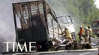 18 Feared Dead As Bus Crashes In Flames in Germany | TIME