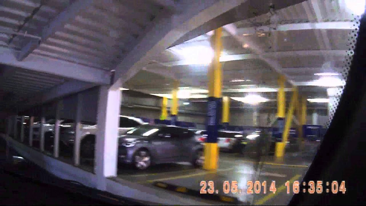 IKEA Rhodes Parking Entry Exit Testing Action Helmet Cam As A Dashcam