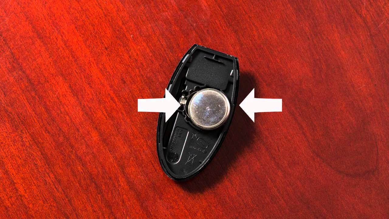 2016 Nissan Maxima Intelligent Key Remote Battery Replacement If So Equipped