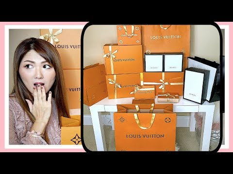 HUGE UNBOXING + GIVEAWAY 💃🏻 [ LOUIS VUITTON & GUCCI ] | CHARIS ❤️