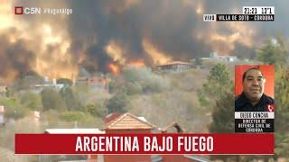 Argentina bajo fuego: Habla Diego Concha, director de Defensa Civil de Córdoba