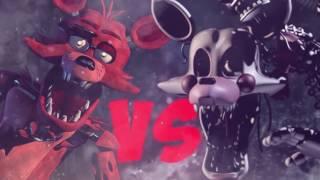 Фокси VS Мангл Эпичная Рэп Битва Аниматроников 5 Ночей С Фредди Анимация