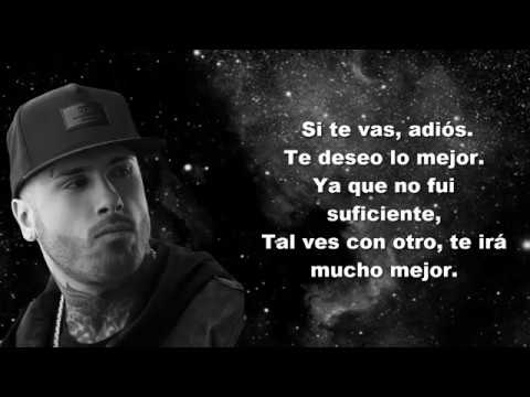 No Te Vayas - Nicky Jam (lyrics) (Álbum Fenix)