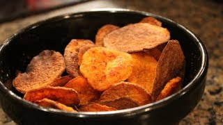 Delicious & Easy Bodybuilding Snack:  Healthy Oven-baked Sweet Potato Chips