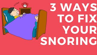 how to stop snoring sleep apnea