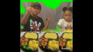 CHICKEN RICE & CORN MUKBANG | KID EATING SHOW! | HILARIOUS