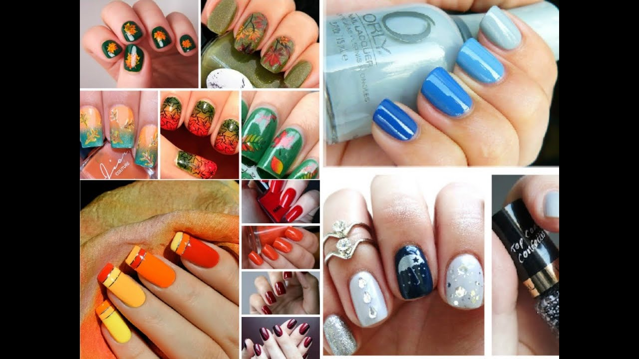 Fashion Fall Nail Art - 20 best Easy Ideas! - YouTube