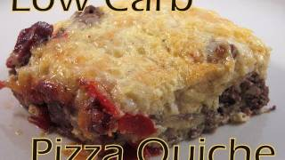 Atkins Diet Recipes: Low Carb Pizza Quiche (if)