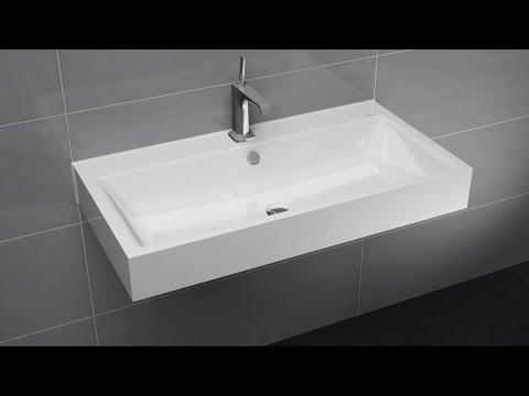 wandwaschtisch mit berlauf montieren puro und silenio. Black Bedroom Furniture Sets. Home Design Ideas