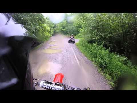 Sweet dirt bike trail ride rainy and muddy