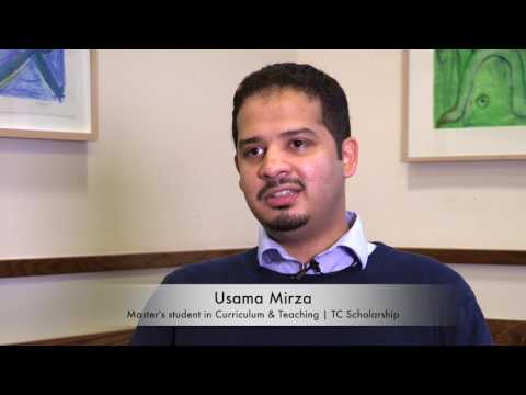 Usama Mirza: Master's student in Curriculum & Teaching and TC Scholarship