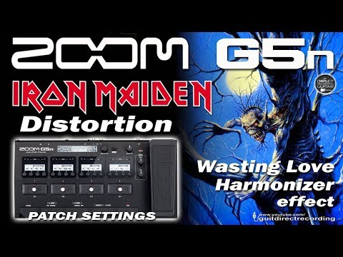 ZOOM G5n IRON MAIDEN 'Wasting Love' Harmonizer and Guitar Solo tone [Free Patch].