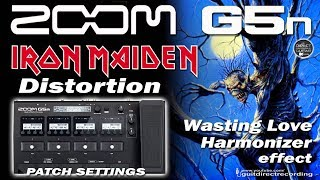 ZOOM G5n HARMONIZER, HARMONIST 'Wasting Love' Guitar tone [Free Patch].