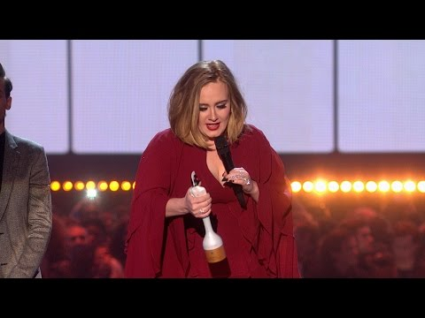 Adele wins British Female Solo Artist | The BRIT Awards 2016