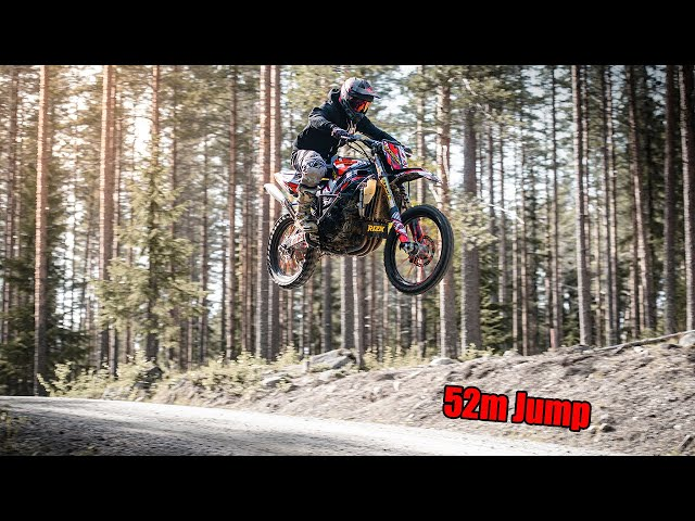 Streetbike ON DIRT - Suzuki GSX-R 1000cc // INSANE MACHINE 52m JUMP!!