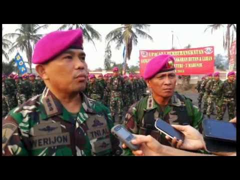 350 Prajurit Marinir Brigif 3 Menuju Pekanbaru