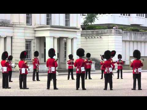 Changing the Guard, August 10, 2013, Scots Guards, RAF Regiment, Band of the Coldstream Guards