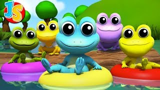 Five Little Speckled Frogs | Nursery Rhymes & Songs For Kids | Baby Rhyme
