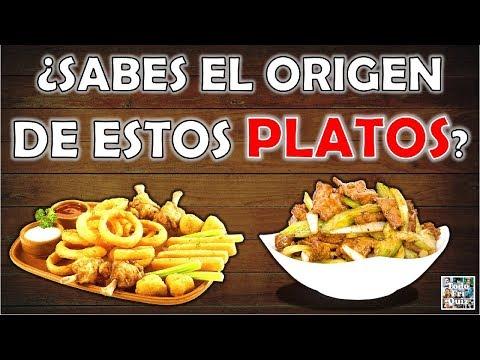 """¿Sabes El """"ORIGEN"""" De Estos """"PLATOS""""? Test/Trivial/Quiz"""