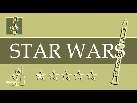 Recorder Notes Tutorial - Star Wars - Main Title (Sheet music)