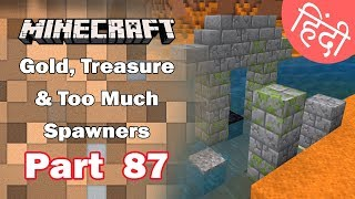 Part 87 - Gold, Treasure & Too much Spawners/Dungeon  - Minecraft PE | in Hindi | BlackClue Gaming