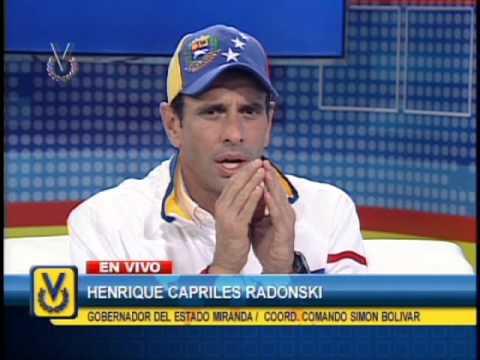 Entrevista Venevisión: Henrique Capriles Radonski, gobernador de Miranda