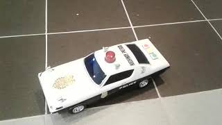 Tin toy  highway  patrol car ,famous