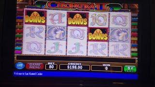 Cleopatra Slot Machine Bonus MAX BET live Play
