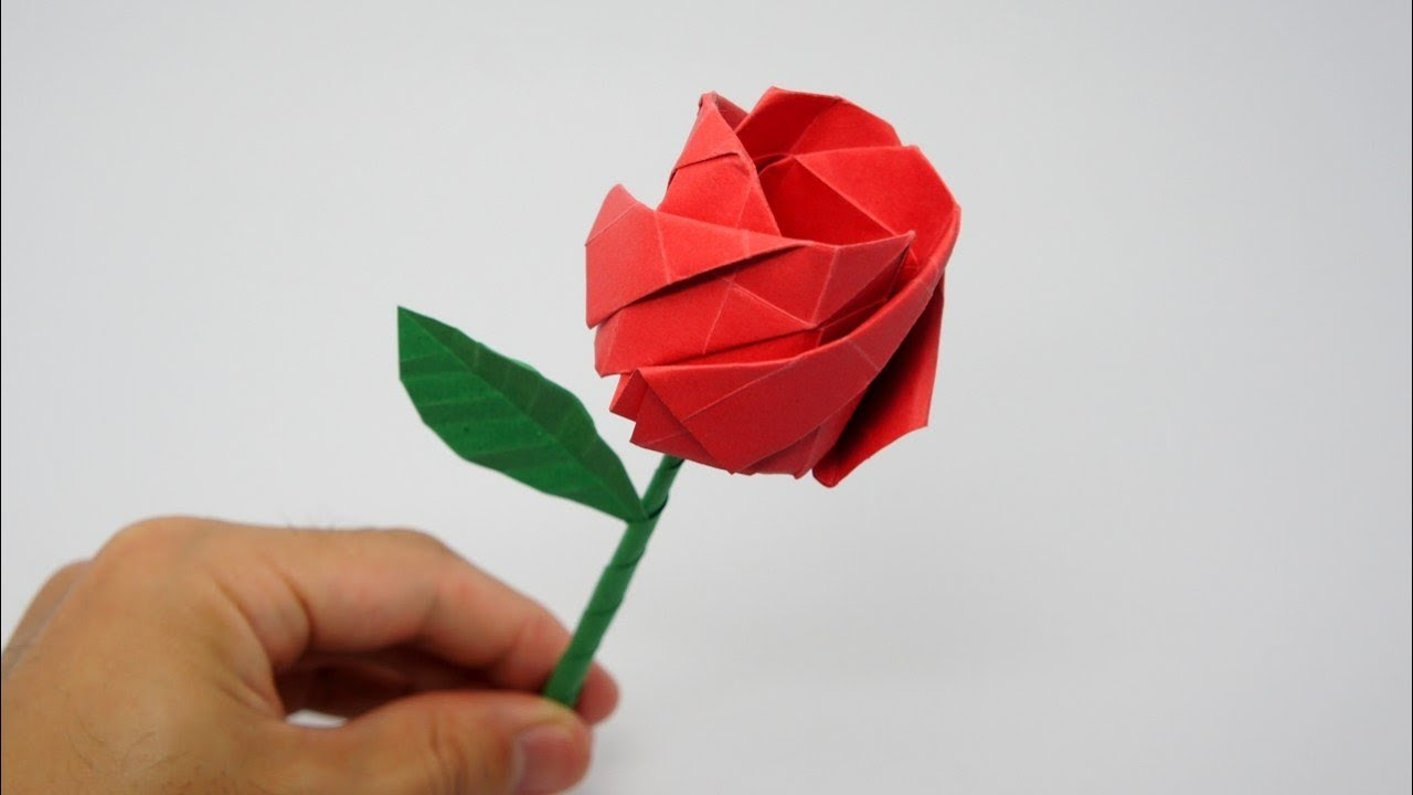 How To Make An Easy Origami Rose Paper Flower
