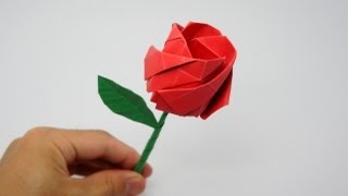 Origami Rose (Jo Nakashima)(How to make an origami Rose (Nakashima Rose) Designed by Jo Nakashima (12/feb/2013) Support my channel! http://www.patreon.com/jonakashima..., 2013-02-14T14:12:03.000Z)