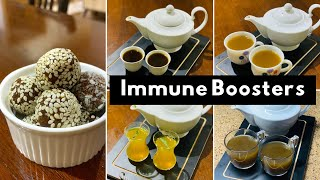 What we take to improve our immunity | Kalonji | Turmeric | Ginger candy | Spice Tea | Lemon Tea