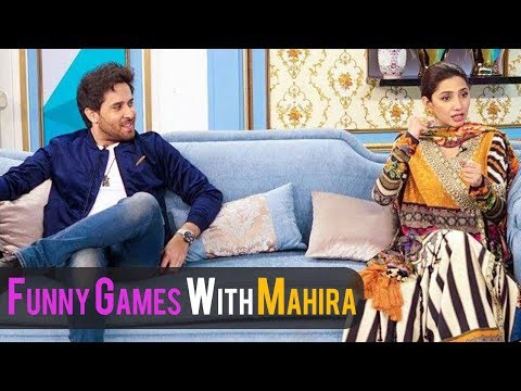 Mahira Khan playing funny games with Morning Show Host